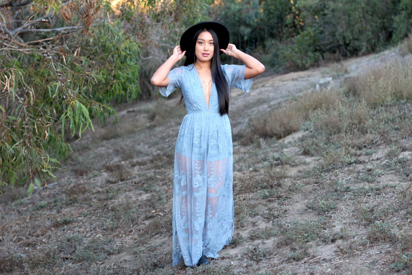 honey punch lace maxi dress - chelsea de castro